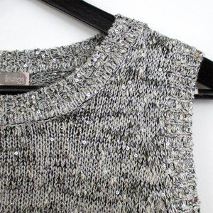 Forever 21 Knitted Sequin Sweater Tank Top S